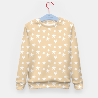 Thumbnail image of White Stars Pastel Orange Starry Sky Astrology Astronomy Kid's sweater, Live Heroes