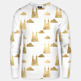 Thumbnail image of Golden Princess Castle Clouds Royal Magic Fairytale Unisex sweater, Live Heroes
