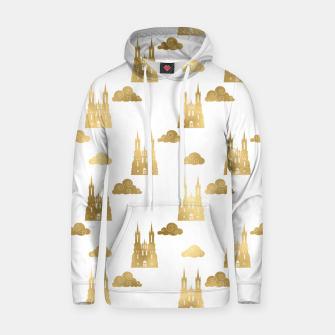 Thumbnail image of Golden Princess Castle Clouds Royal Magic Fairytale Hoodie, Live Heroes