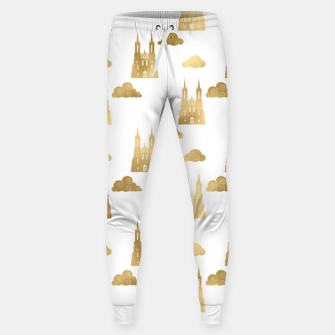 Thumbnail image of Golden Princess Castle Clouds Royal Magic Fairytale Sweatpants, Live Heroes