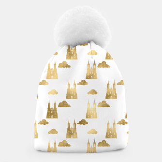 Thumbnail image of Golden Princess Castle Clouds Royal Magic Fairytale Beanie, Live Heroes