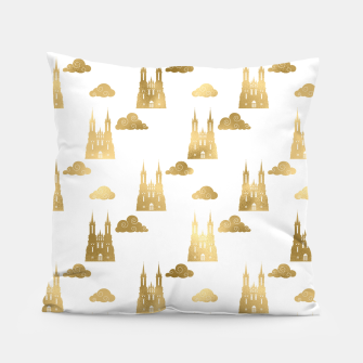 Thumbnail image of Golden Princess Castle Clouds Royal Magic Fairytale Pillow, Live Heroes