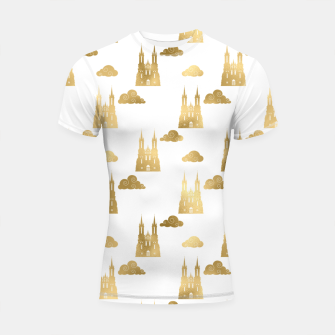 Thumbnail image of Golden Princess Castle Clouds Royal Magic Fairytale Shortsleeve rashguard, Live Heroes