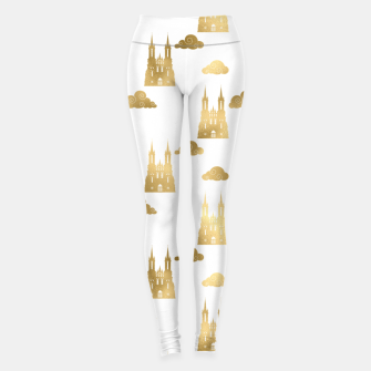 Thumbnail image of Golden Princess Castle Clouds Royal Magic Fairytale Leggings, Live Heroes