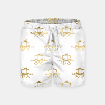 Thumbnail image of Golden Coaches Cinderella Princess Royal Magic Fairytale Swim Shorts, Live Heroes