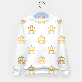 Thumbnail image of Golden Coaches Cinderella Princess Royal Magic Fairytale Kid's sweater, Live Heroes