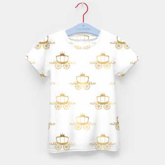 Thumbnail image of Golden Coaches Cinderella Princess Royal Magic Fairytale Kid's t-shirt, Live Heroes