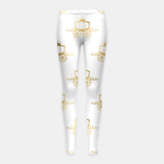 Thumbnail image of Golden Coaches Cinderella Princess Royal Magic Fairytale Girl's leggings, Live Heroes