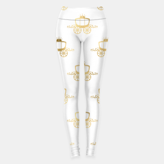 Thumbnail image of Golden Coaches Cinderella Princess Royal Magic Fairytale Leggings, Live Heroes