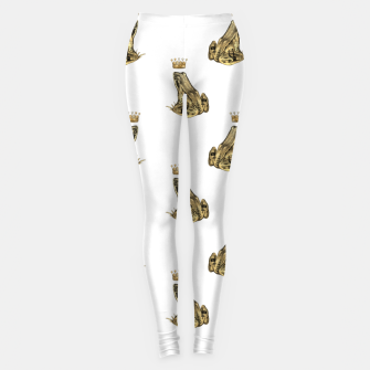 Thumbnail image of Fairytale Frog Prince Magic Charm Fantasy Golden Crown Leggings, Live Heroes