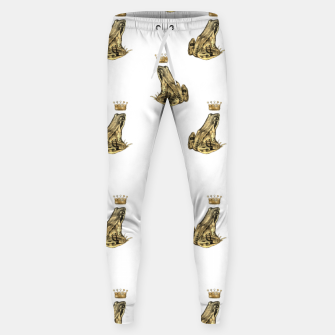 Thumbnail image of Fairytale Frog Prince Magic Charm Fantasy Golden Crown Sweatpants, Live Heroes