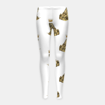 Imagen en miniatura de Fairytale Frog Prince Magic Charm Fantasy Golden Crown Girl's leggings, Live Heroes
