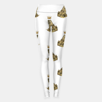 Imagen en miniatura de Fairytale Frog Prince Magic Charm Fantasy Golden Crown Leggings, Live Heroes