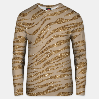 Miniaturka Zebra Stripes Golden Glitter Elegant Glamorous Animal Unisex sweater, Live Heroes