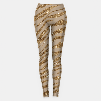 Miniaturka Zebra Stripes Golden Glitter Elegant Glamorous Animal Leggings, Live Heroes