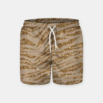 Miniaturka Zebra Stripes Golden Glitter Elegant Glamorous Animal Swim Shorts, Live Heroes