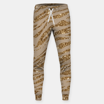 Miniaturka Zebra Stripes Golden Glitter Elegant Glamorous Animal Sweatpants, Live Heroes
