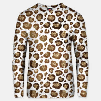 Thumbnail image of Leopard Spots Wild Animals Golden Glitter Girly Safari Unisex sweater, Live Heroes