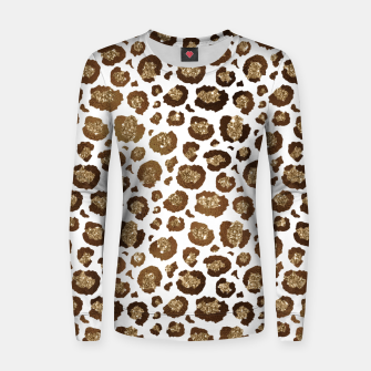 Thumbnail image of Leopard Spots Wild Animals Golden Glitter Girly Safari Women sweater, Live Heroes