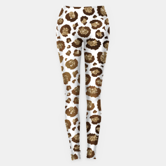 Thumbnail image of Leopard Spots Wild Animals Golden Glitter Girly Safari Leggings, Live Heroes