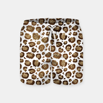 Thumbnail image of Leopard Spots Wild Animals Golden Glitter Girly Safari Swim Shorts, Live Heroes