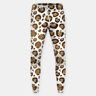 Thumbnail image of Leopard Spots Wild Animals Golden Glitter Girly Safari Sweatpants, Live Heroes