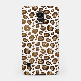 Thumbnail image of Leopard Spots Wild Animals Golden Glitter Girly Safari Samsung Case, Live Heroes