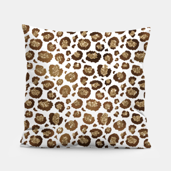 Thumbnail image of Leopard Spots Wild Animals Golden Glitter Girly Safari Pillow, Live Heroes