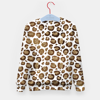 Thumbnail image of Leopard Spots Wild Animals Golden Glitter Girly Safari Kid's sweater, Live Heroes