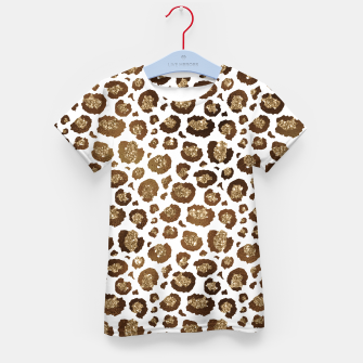 Thumbnail image of Leopard Spots Wild Animals Golden Glitter Girly Safari Kid's t-shirt, Live Heroes