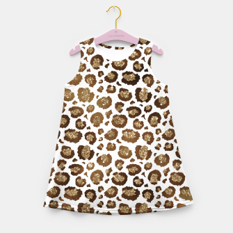 Thumbnail image of Leopard Spots Wild Animals Golden Glitter Girly Safari Girl's summer dress, Live Heroes