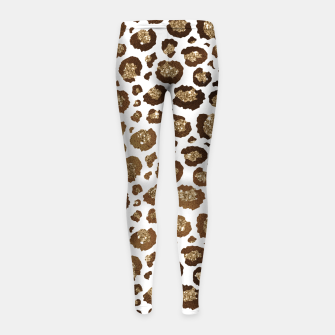 Thumbnail image of Leopard Spots Wild Animals Golden Glitter Girly Safari Girl's leggings, Live Heroes