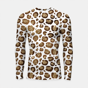 Thumbnail image of Leopard Spots Wild Animals Golden Glitter Girly Safari Longsleeve rashguard , Live Heroes
