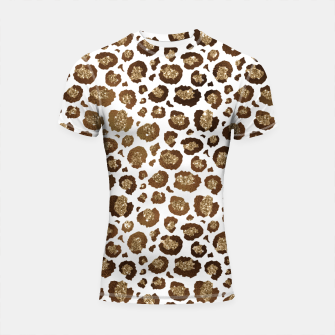 Thumbnail image of Leopard Spots Wild Animals Golden Glitter Girly Safari Shortsleeve rashguard, Live Heroes
