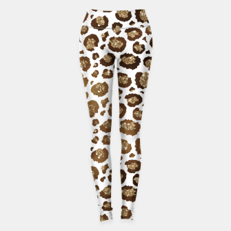 Miniature de image de Leopard Spots Wild Animals Golden Glitter Girly Safari Leggings, Live Heroes
