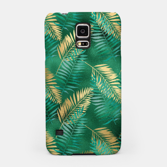 Miniaturka Natural Emerald Green Palm Leaf Bright Golden Jungle Samsung Case, Live Heroes