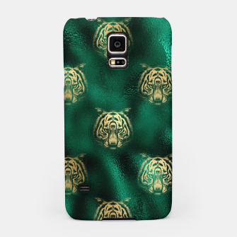 Thumbnail image of Golden Tiger Face Emerald Green Wild Animal Feline Samsung Case, Live Heroes