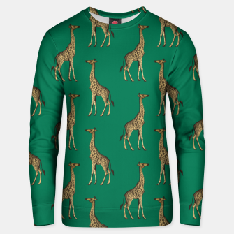 Miniature de image de Giraffe Mammalian Emerald Green Wild Animal Africa Unisex sweater, Live Heroes