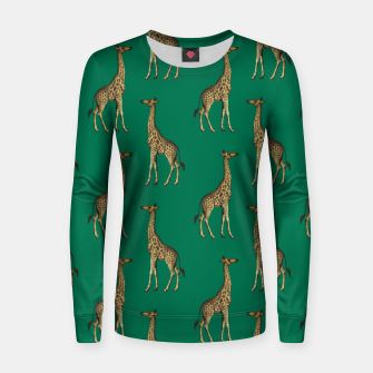 Miniature de image de Giraffe Mammalian Emerald Green Wild Animal Africa Women sweater, Live Heroes