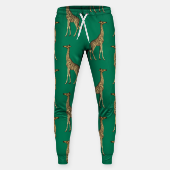 Miniature de image de Giraffe Mammalian Emerald Green Wild Animal Africa Sweatpants, Live Heroes