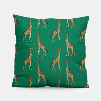 Miniature de image de Giraffe Mammalian Emerald Green Wild Animal Africa Pillow, Live Heroes