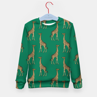 Miniature de image de Giraffe Mammalian Emerald Green Wild Animal Africa Kid's sweater, Live Heroes