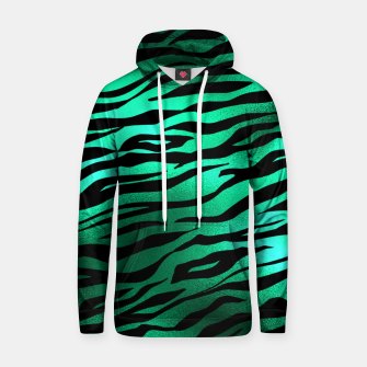 Miniature de image de Emerald Green Black Tiger Stripes Feline Lover Wild Animal Hoodie, Live Heroes