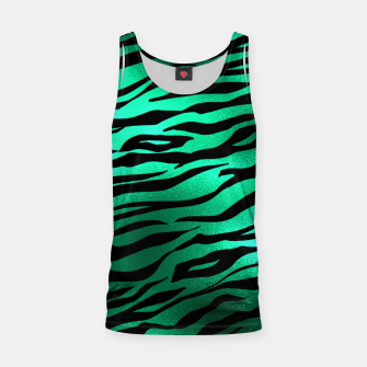 Miniature de image de Emerald Green Black Tiger Stripes Feline Lover Wild Animal Tank Top, Live Heroes
