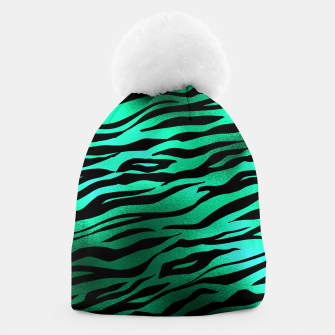 Miniature de image de Emerald Green Black Tiger Stripes Feline Lover Wild Animal Beanie, Live Heroes