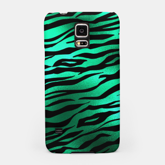 Miniature de image de Emerald Green Black Tiger Stripes Feline Lover Wild Animal Samsung Case, Live Heroes
