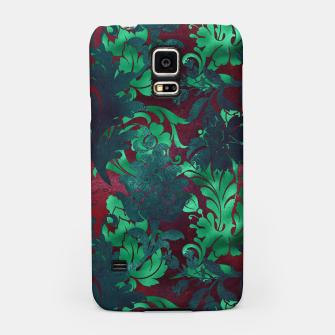 Thumbnail image of Vintage Floral Garden Bright Burgundy Emerald Green Samsung Case, Live Heroes