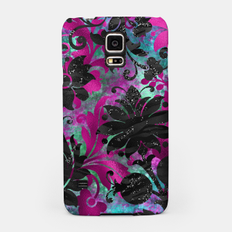 Miniaturka Antique Floral Jungle Black Flower Zebra Stripes Grunge Samsung Case, Live Heroes