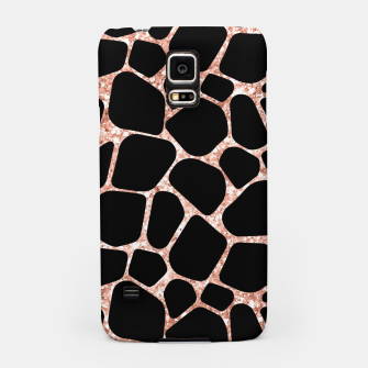 Thumbnail image of Girly Rose Golden Glitter Black Spots Safari Cheetah Samsung Case, Live Heroes