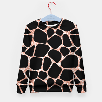 Thumbnail image of Girly Rose Golden Glitter Black Spots Safari Cheetah Kid's sweater, Live Heroes
